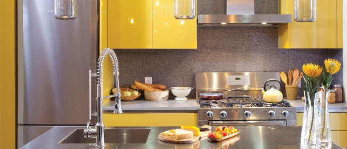 The beauty of the kitchen with tile مطالب دکوراسیون