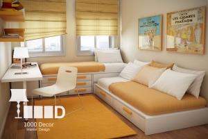 bedroom decoration16 300x200 دکوراسیون اتاق خواب
