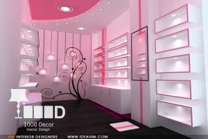 clothes store decoration2 1 300x200 دکوراسیون فروشگاه لوازم آرایشی