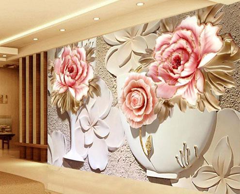 wholesale custom 3d wallpaper murals 3d flower 4 Home