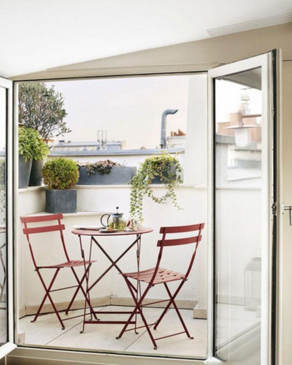 patio1 طراحی تراس و بالکن کوچک با 6 ایده خنک تابستانی!