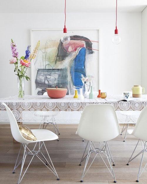 traditional dining room5 5 رومیزی ایده آل برای میز های غذاخوری