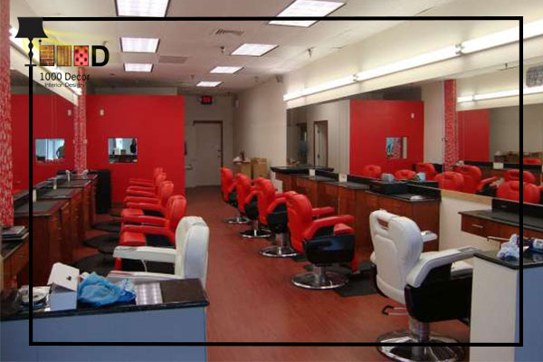 1000decor Barbershop 06 دکوراسیون آرایشگاه مردانه