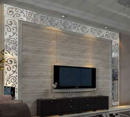 tv decoration1 انواع دکوراسیون دیوار پشت تلویزیون LCD و LED سنگ و کناف