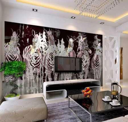 tv decoration3 انواع دکوراسیون دیوار پشت تلویزیون LCD و LED سنگ و کناف