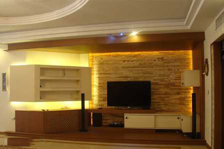 طرح ال سی دی با گچ انواع دکوراسیون دیوار پشت تلویزیون LCD و LED سنگ و کناف ...