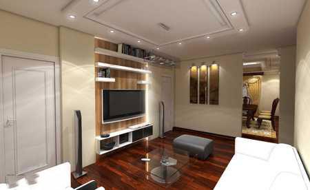 tv decoration7 انواع دکوراسیون دیوار پشت تلویزیون LCD و LED سنگ و کناف