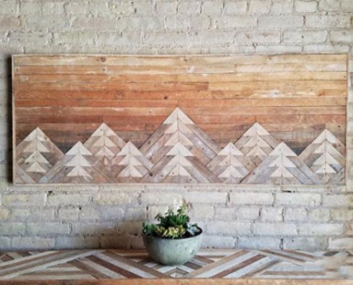 mountain range painted in sunset hues wood decoration for wall 600x424 495x400 صفحه اصلی