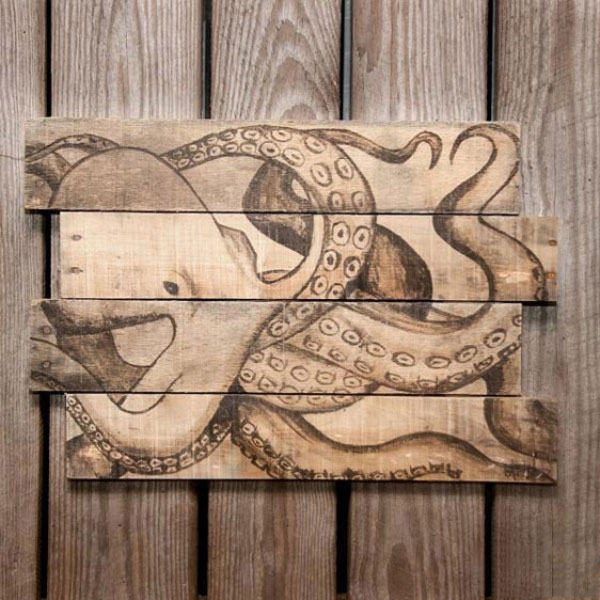 octopus oscillating panels wood art 600x600 دکوری چوبی بر روی دیوار