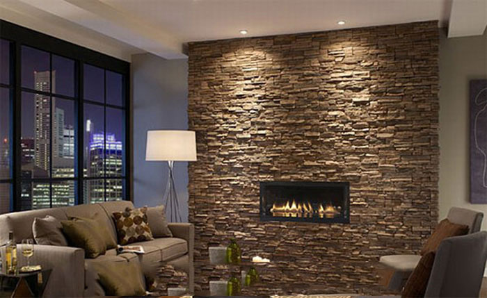 stunning wall stone for living room decorating ideas ۷ سنگ آنتیک در دکوراسیون داخلی