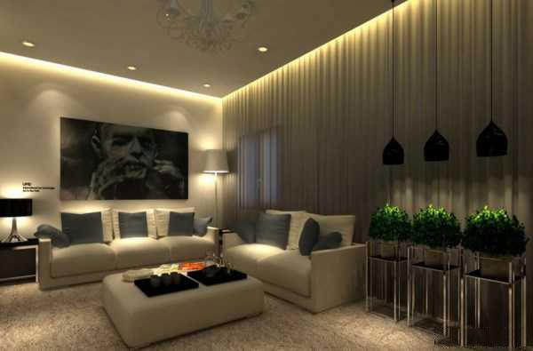 noor3 نورپردازی سقف و دیوار در اتاق پذیرایی و نشینمن