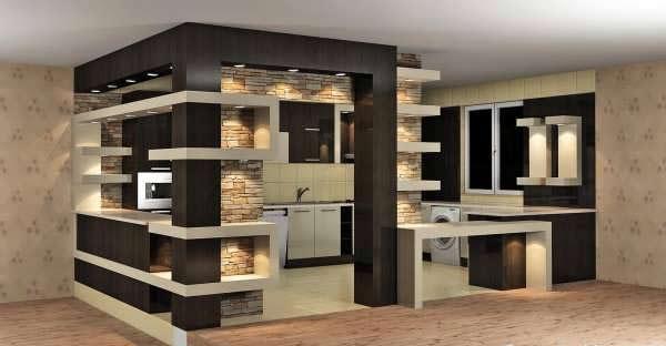 cabinet kitchen MDF 2 مدل کابینت های ام دی اف برای آشپزخانه های بزرگ و کوچک