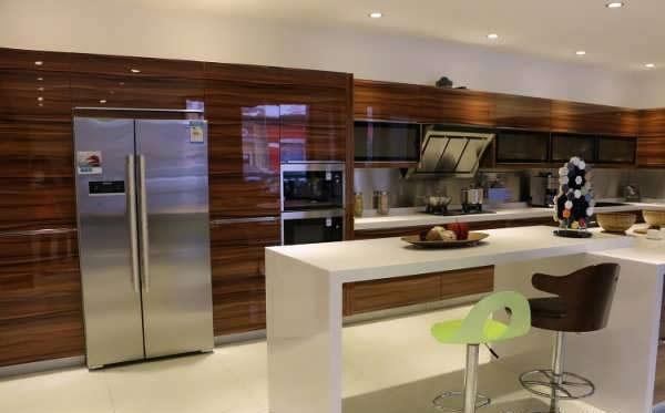cabinet kitchen MDF 5 مدل کابینت های ام دی اف برای آشپزخانه های بزرگ و کوچک
