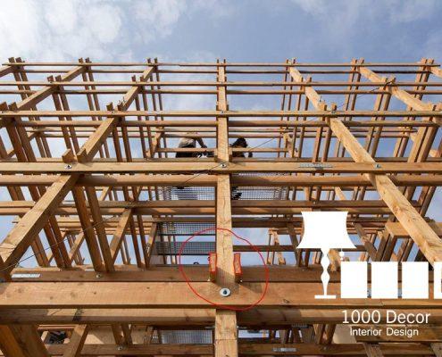 wooden structure of observation 2 495x400 مهندسی و اجرا سازه چوبی دیدبانی فرش گل