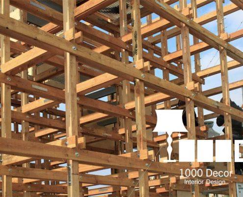 wooden structure of observation 3 495x400 مهندسی و اجرا سازه چوبی دیدبانی فرش گل
