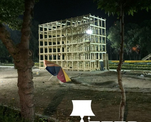 wooden structure of observation 4 495x400 مهندسی و اجرا سازه چوبی دیدبانی فرش گل
