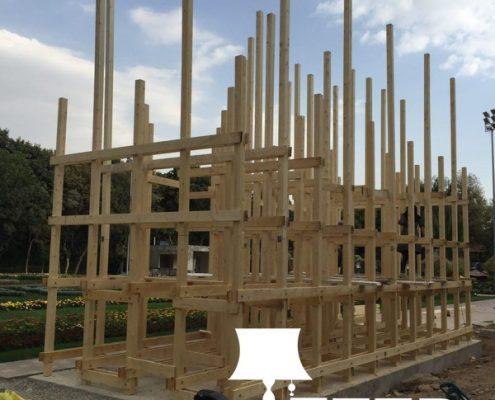 wooden structure of observation 5 495x400 مهندسی و اجرا سازه چوبی دیدبانی فرش گل