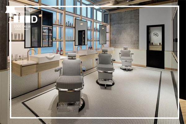 1000decor Barbershop 3 بهترین و شیک ترین دکور آرایشگاه مردانه