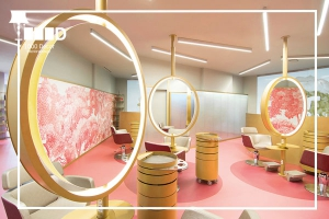 1000decor Hairdressing decor Choose a beautiful theme for your hair salon decor 300x200 طراحی دکوراسیون آرایشگاه و ویژگی ها