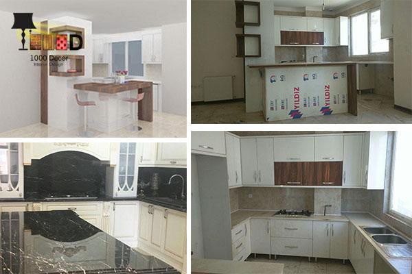 1000decor Kitchen cabinet decoration 1 اصول مهم در داشتن شیک ترین دکوراسیون کابینت آشپزخانه