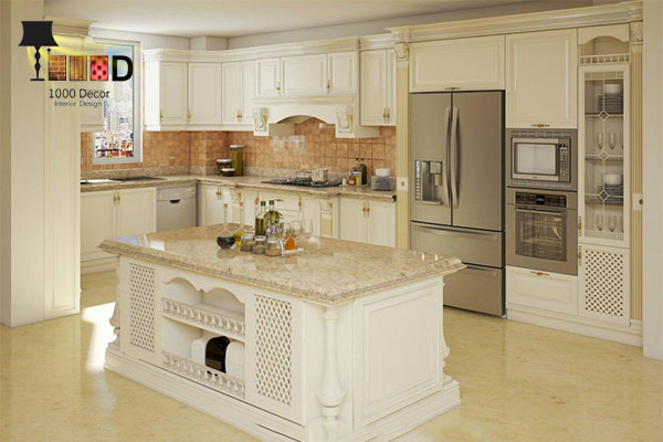 1000decor Kitchen cabinet decoration 4 اصول مهم در داشتن شیک ترین دکوراسیون کابینت آشپزخانه
