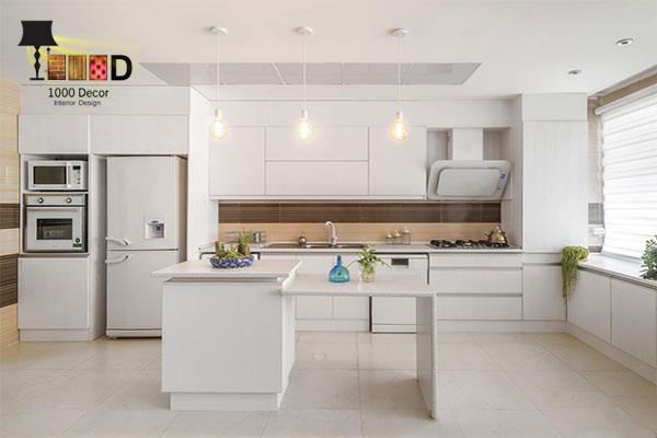 1000decor Kitchen cabinet decoration 6 اصول مهم در داشتن شیک ترین دکوراسیون کابینت آشپزخانه