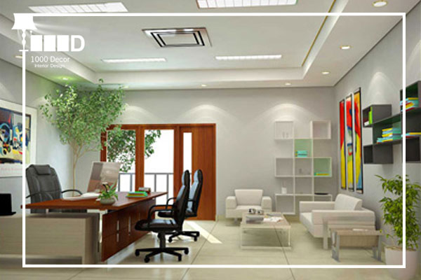 1000decor Flowers and plants in office decoration 1 اجرای دکوراسیون اداری ، تحولی در محل کار شما