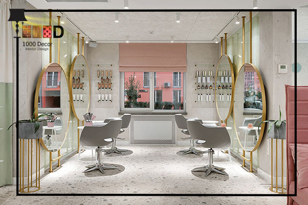 1000decor 6 بهترین چیدمان دکور آرایشگاه زنانه ( 2019   1000 دکور )