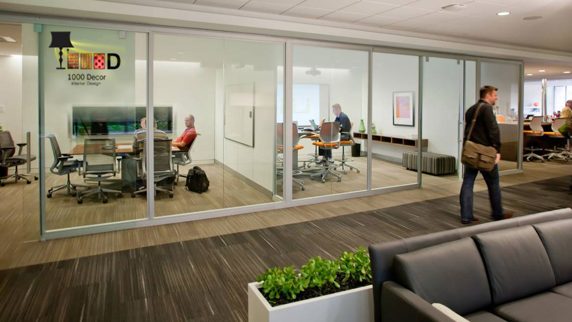 1000decor Partitioning in office decoration 1 اجرای دکوراسیون اداری ، تحولی در محل کار شما