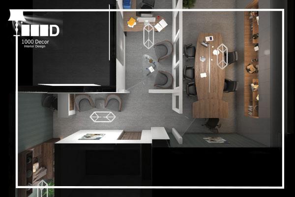 1000decor Architectural office office decoration 1 اجرای دکوراسیون اداری ، تحولی در محل کار شما